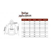 Guide des tailles sweat Jujutsu Kaisen