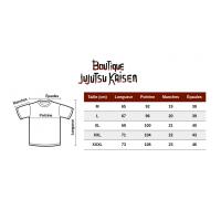 Guide des tailles t-shirt Jujutsu Kaisen